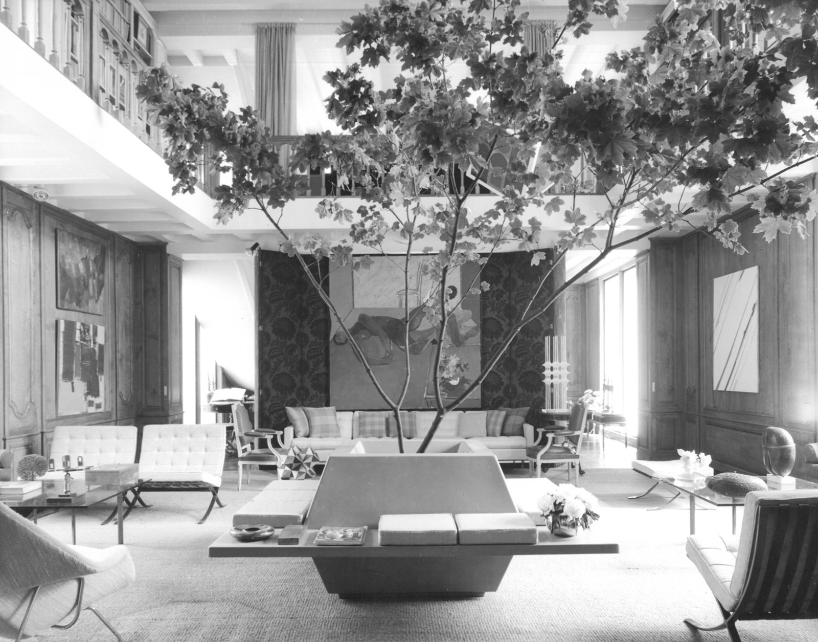 Living Room and Chair Yves Vidal's Le Moulin des Corbeaux in Saint-Maurice, France. Photograph from the Knoll Archive.  Photo 6 of 9 in Yves Vidal: Knoll International