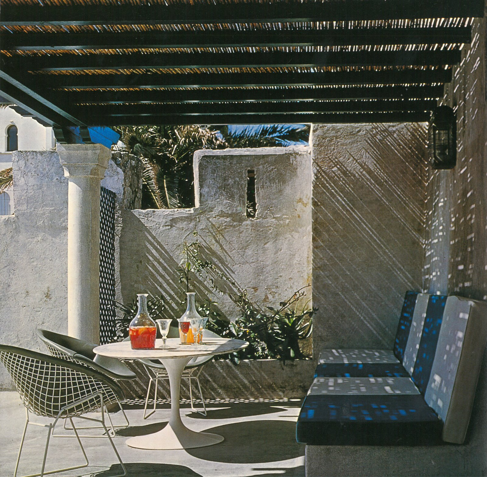 Outdoor, Small Patio, Porch, Deck, and Concrete Patio, Porch, Deck Yves Vidal's York Castle in Tangiers, Morocco. Photograph from the Knoll Archive.  Photo 7 of 9 in Yves Vidal: Knoll International