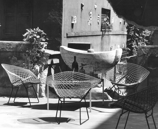 Bertoia Two-Tone Diamond Chairs in Rome. Photograph by Klaus Zougg from the Knoll Archive.  Photo 7 of 7 in Knoll Inspiration: Reintroducing the Bertoia Two-Tone