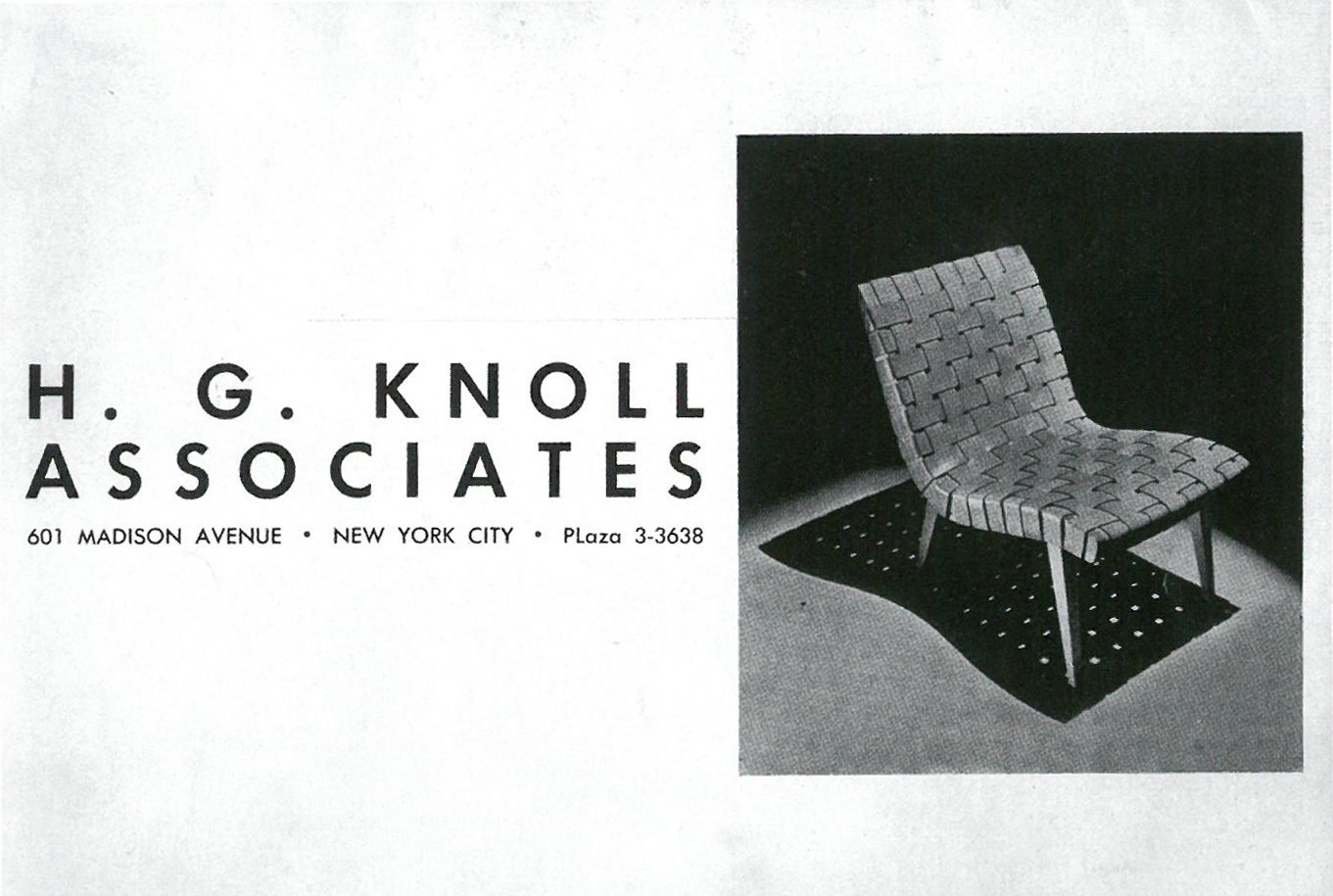 Original Hans G. Knoll Associates advertisement with the 650 Line Lounge Chair designed by Jens Risom. Image from the Knoll Archive.  Photo 2 of 10 in Knoll Inspiration: The Answer is Risom