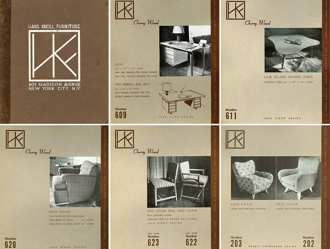 The original product catalogue for Hans G. Knoll Associates designed by Hans Knoll and Jens Risom, c. 1942. Image from the Knoll Archive.  Photo 5 of 10 in Knoll Inspiration: The Answer is Risom