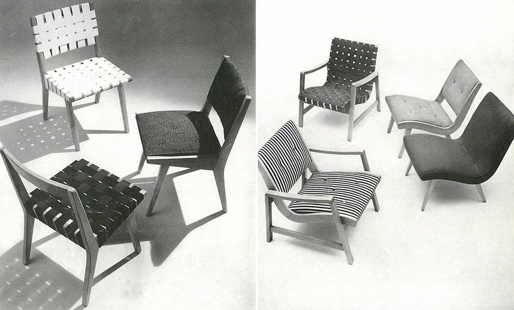 Left: The 666 Side Chair designed by Jens Risom, c. 1943. Right: The 650 Line designed by Jens Risom, c, 1943. Images from the Knoll Archive.  Photo 9 of 10 in Knoll Inspiration: The Answer is Risom