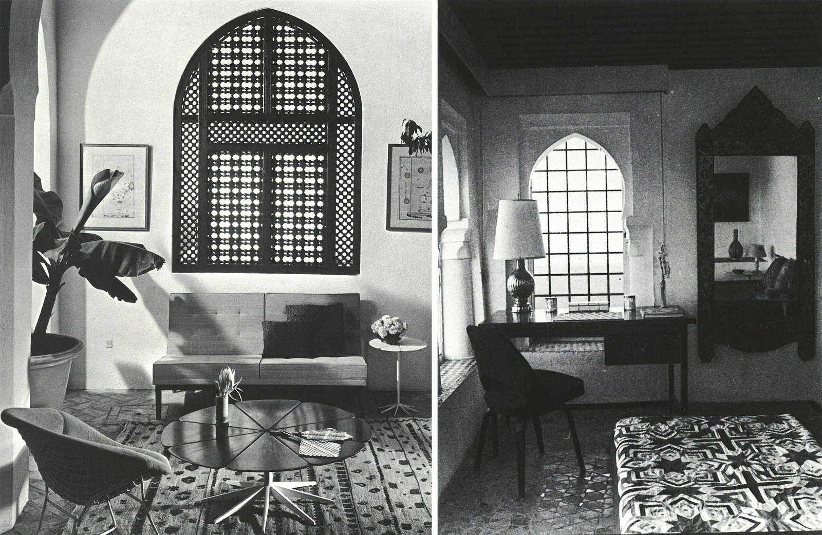 In the bedrooms and lounge areas, modern furniture was keenly balanced with oriental art and design.  Photo 6 of 12 in Morocco Modern