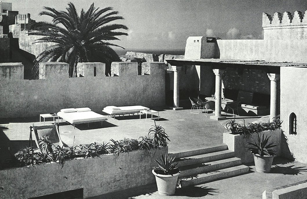 The terraces of York Castle offered ample room for sunbathing and dining en plein soleil.  Photo 7 of 12 in Morocco Modern