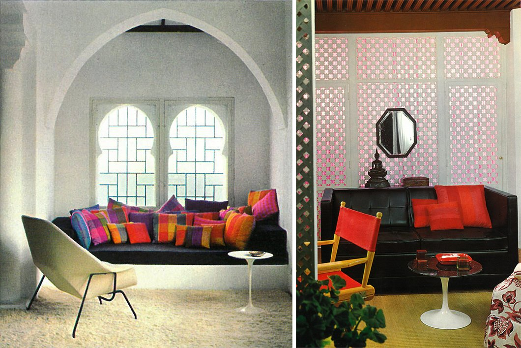 The colorful inner spaces of York Castle, where light filtered in through Moorish-inspired windows.  Photo 10 of 12 in Morocco Modern