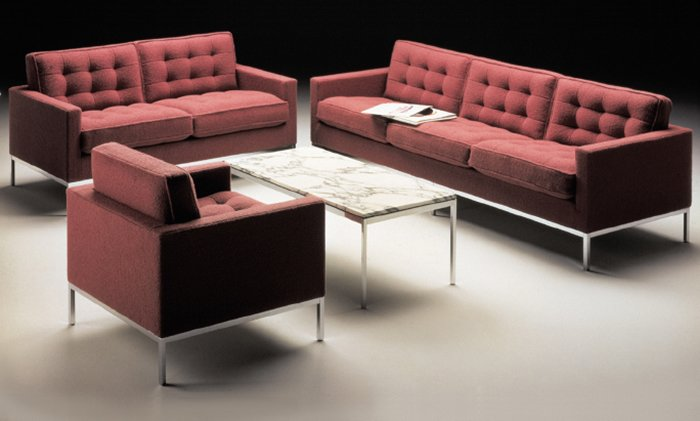 Designed to meet the changing needs of the modern office, the Florence Knoll Lounge Collection has become a classic since its its introduction in 1954. Image from the Knoll Archive.  Photo 4 of 10 in Introducing New Designs Inspired by a Century of Florence Knoll