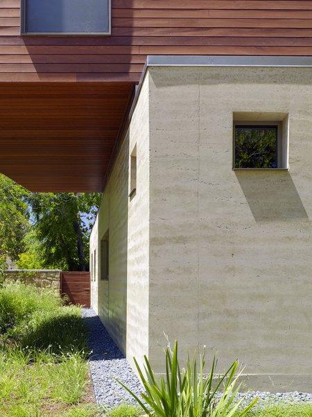 rammed earth facade