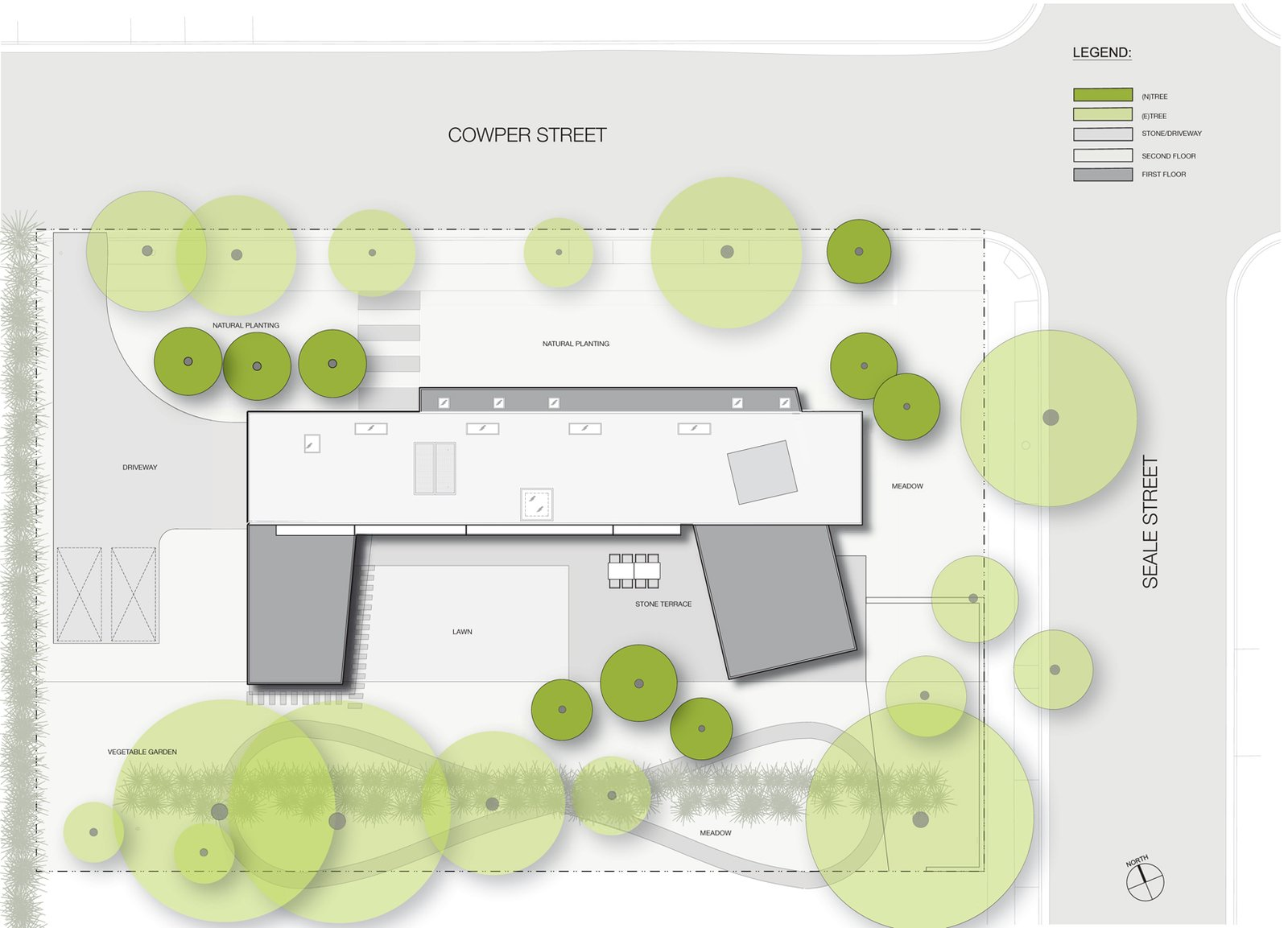 site plan  Palo Alto Residence by CCS ARCHITECTURE