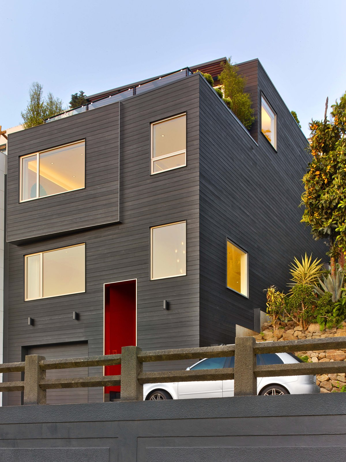Outdoor and Front Yard Exterior facade  Glen Park Residence by CCS ARCHITECTURE