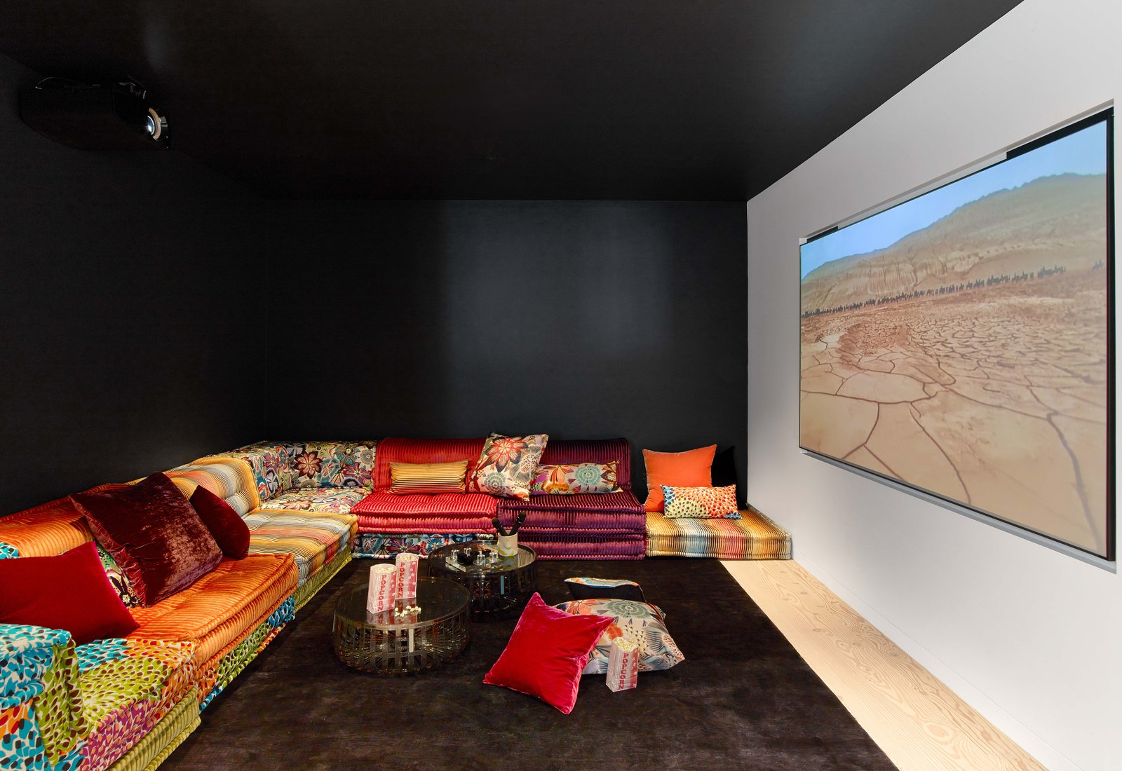 Movie room  Glen Park Residence by CCS Architecture