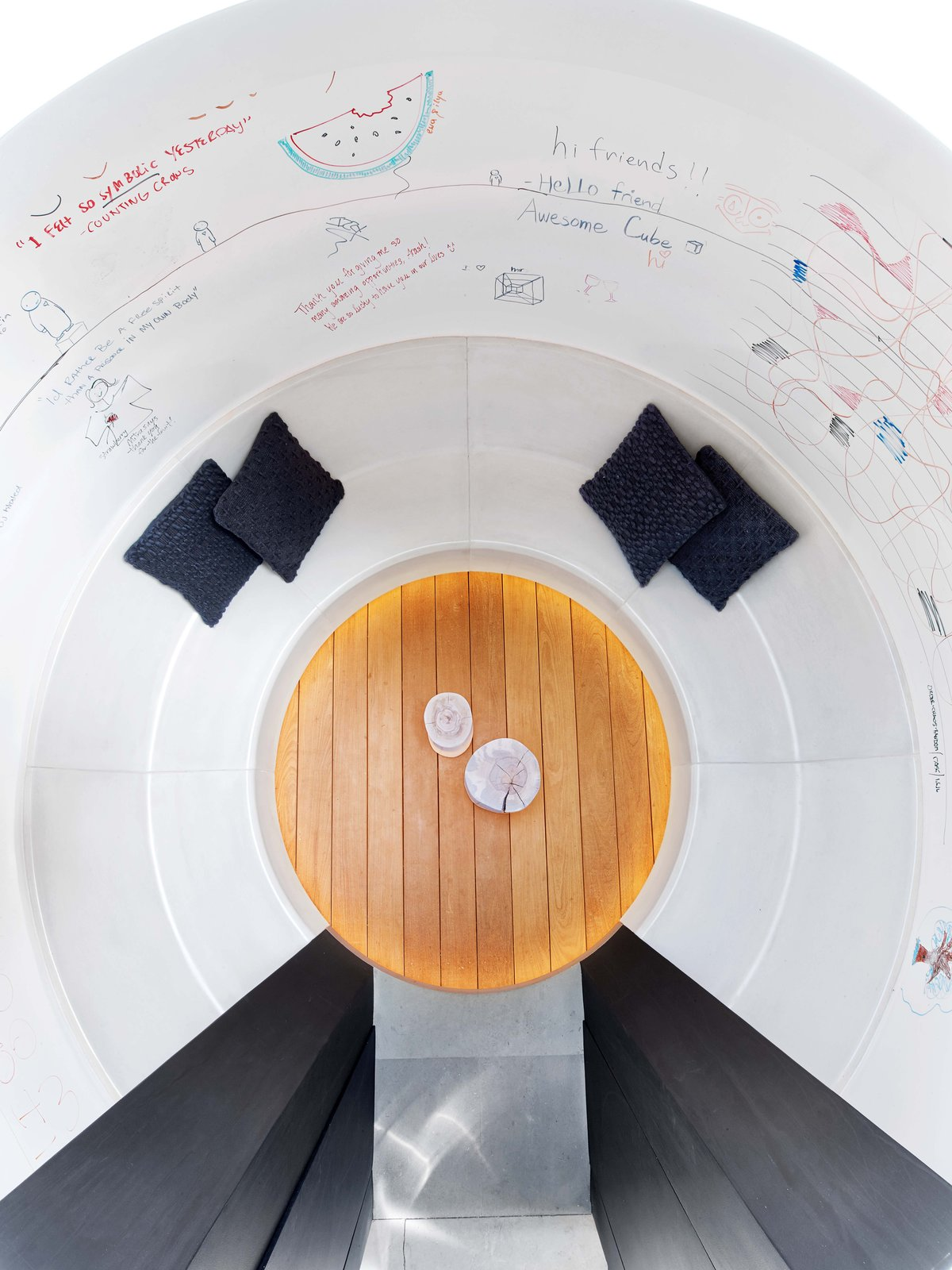 """""""The Cube"""" - interior from oculus above  Glen Park Residence by CCS Architecture"""