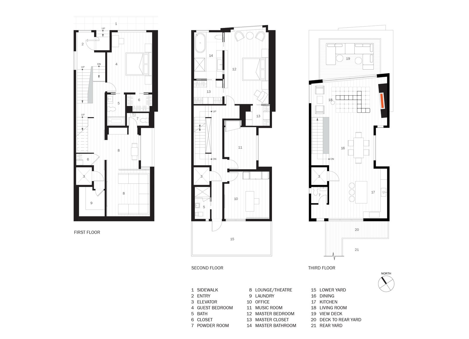 floorplans  Glen Park Residence by CCS ARCHITECTURE