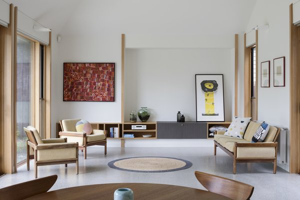 Plasterboard was used on the walls and ceilings of the interiors to accentuate an abundance of natural light.