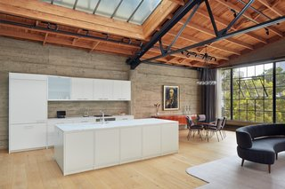 This loft was once a knitting mill in San Francisco.