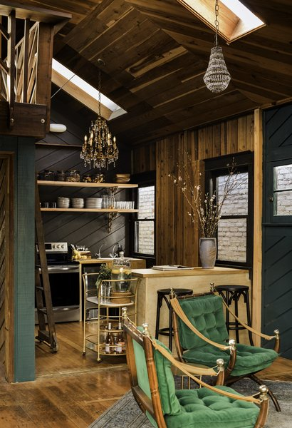 The full kitchen was meant to incorporate Old Hollywood glamour and the look of a Parisian café.