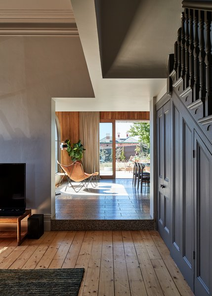 The new addition had to flow seamlessly into the more traditional spaces of the home.