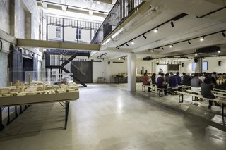 The downstairs event space is open to the community, and features a more modern design.