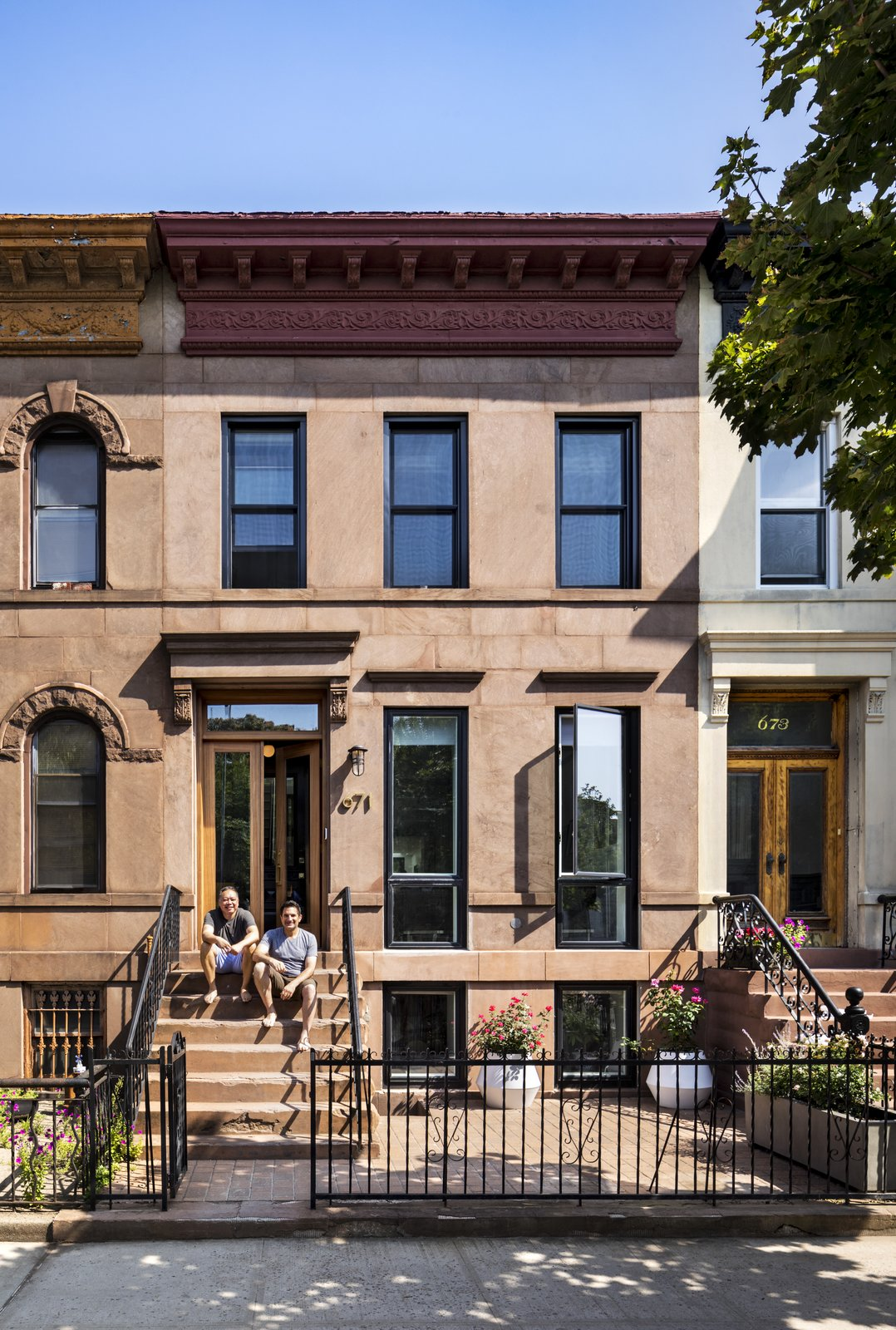 BFDO Architects Crown Heights Brownstone exterior