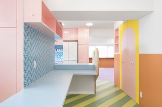 This Tokyo Apartment's Kaleidoscopic Kitchen Delights With Cotton Candy Colors