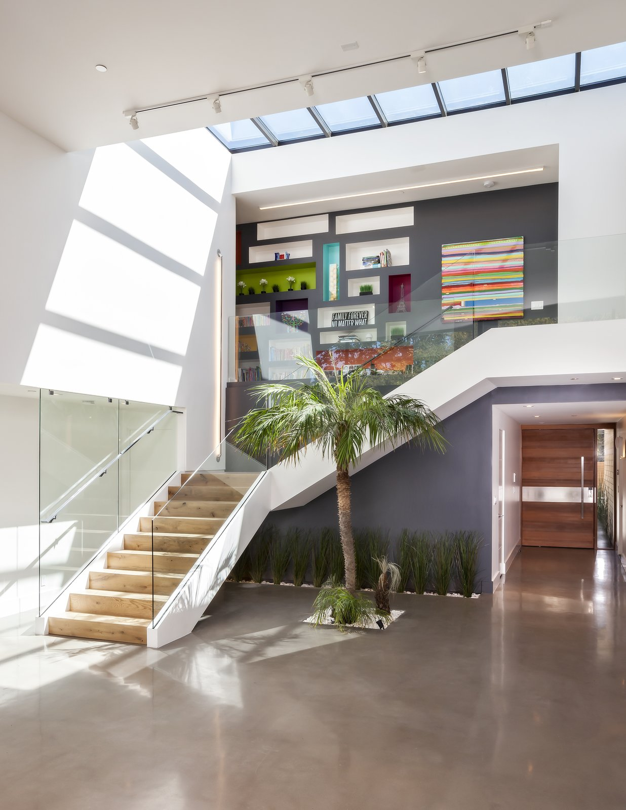 House Under the Sky by Maydan Architects exterior staircase and skylight