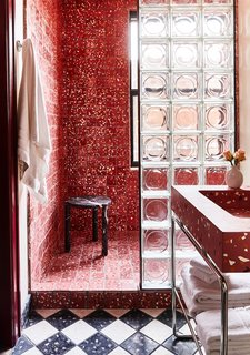 "If you're looking to recreate this look in a home bathroom, Cooper thinks its best for small spaces. ""Keep it contained if you are living with it every day,"" he says. ""It's fun to go all out in a small powder room or secondary bathroom you don't use all the time. In your primary bathroom, you will likely get sick of it if you push it too far."""