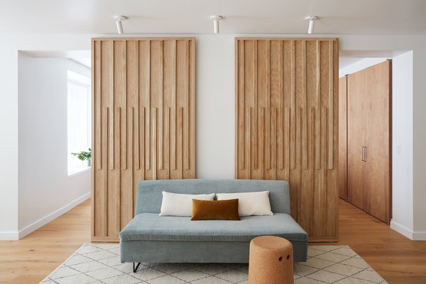 The updated doors are beautiful and functional, and are inspired by Japanese shoji screens.
