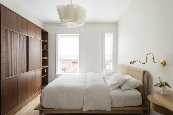 """""""The house is so small that the renovation required a lot of attention to get the scale of the details right, light the crown molding,"""