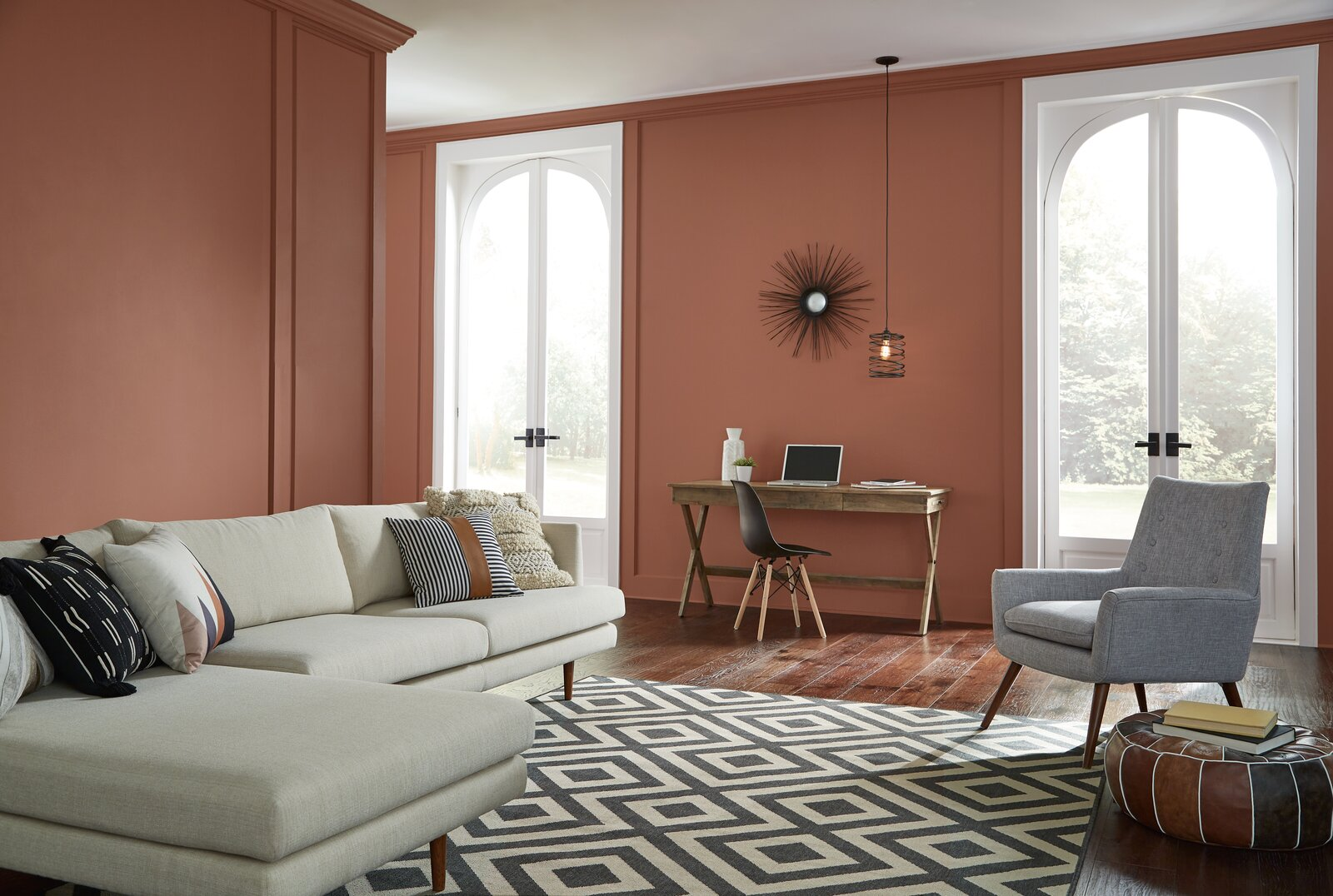 Behr's Perfect Penny is an ideal shade for those who want to lean into the colors of the season.  Photo 4 of 7 in These Paint Colors Will Dominate Our Homes in 2022