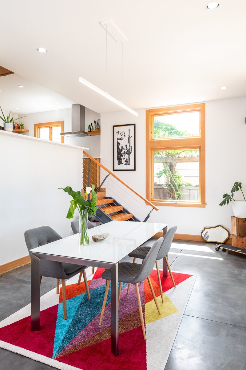 Dining Room, Pendant Lighting, Table, Concrete Floor, Storage, Recessed Lighting, and Chair Dining room  Ballard Residence