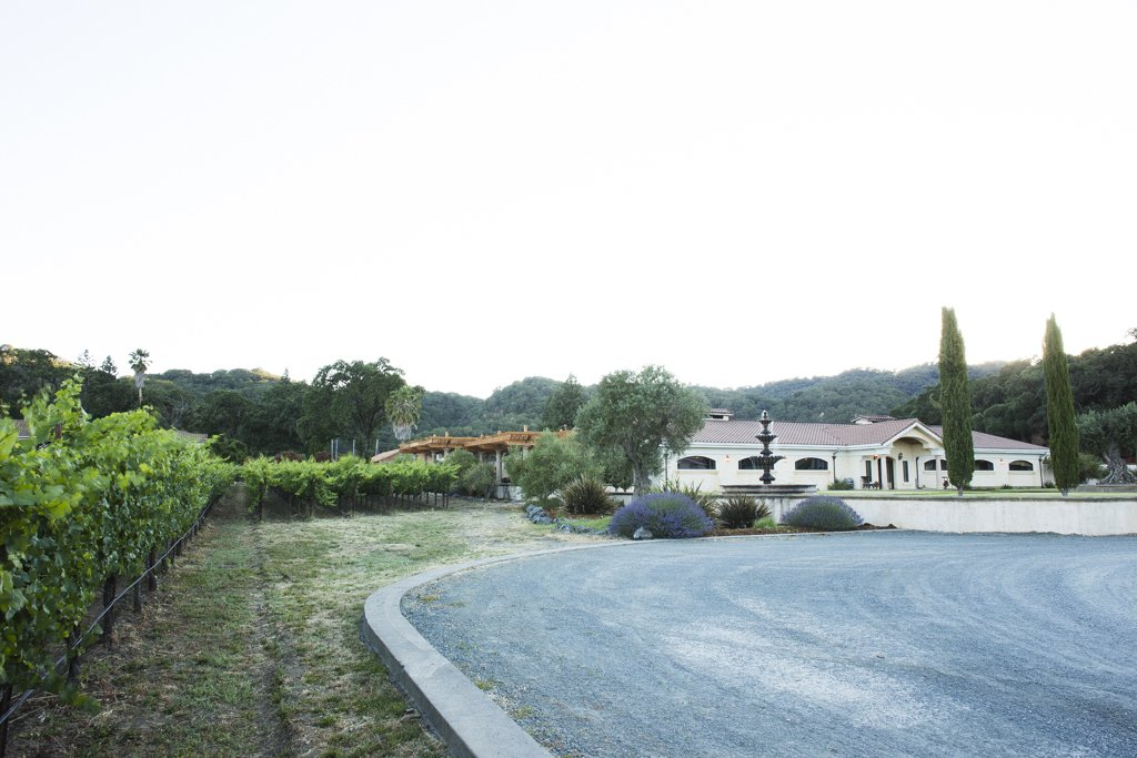 Naturally beautiful, Jeriko's scenic 75 acres are comfortably viewed from outdoor spaces shaded by redwood pergolas.  Photo 4 of 6 in A Northern California Winery's Breathtaking Vistas Are Enhanced by Natural Redwood