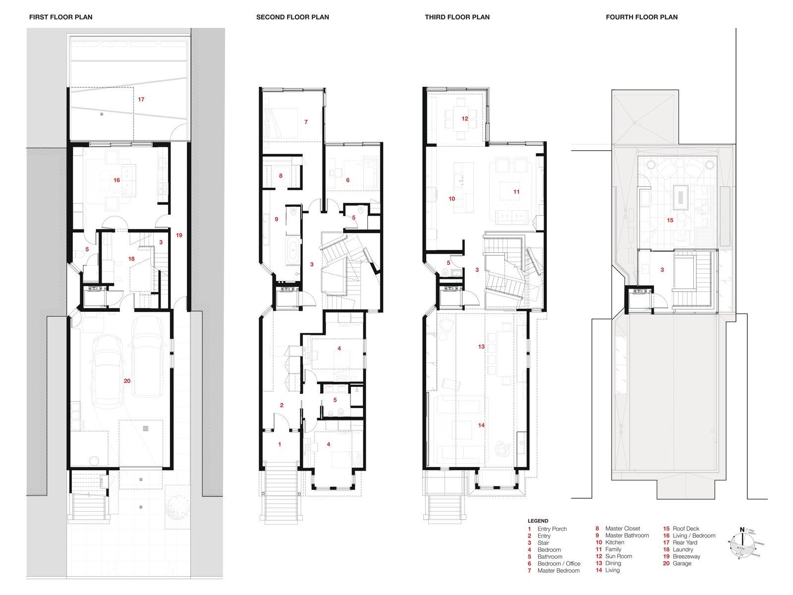 San francisco townhouse floor plans for Large townhouse floor plans