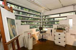 The lower level art studio, where Helen painted, was a later addition to the house.