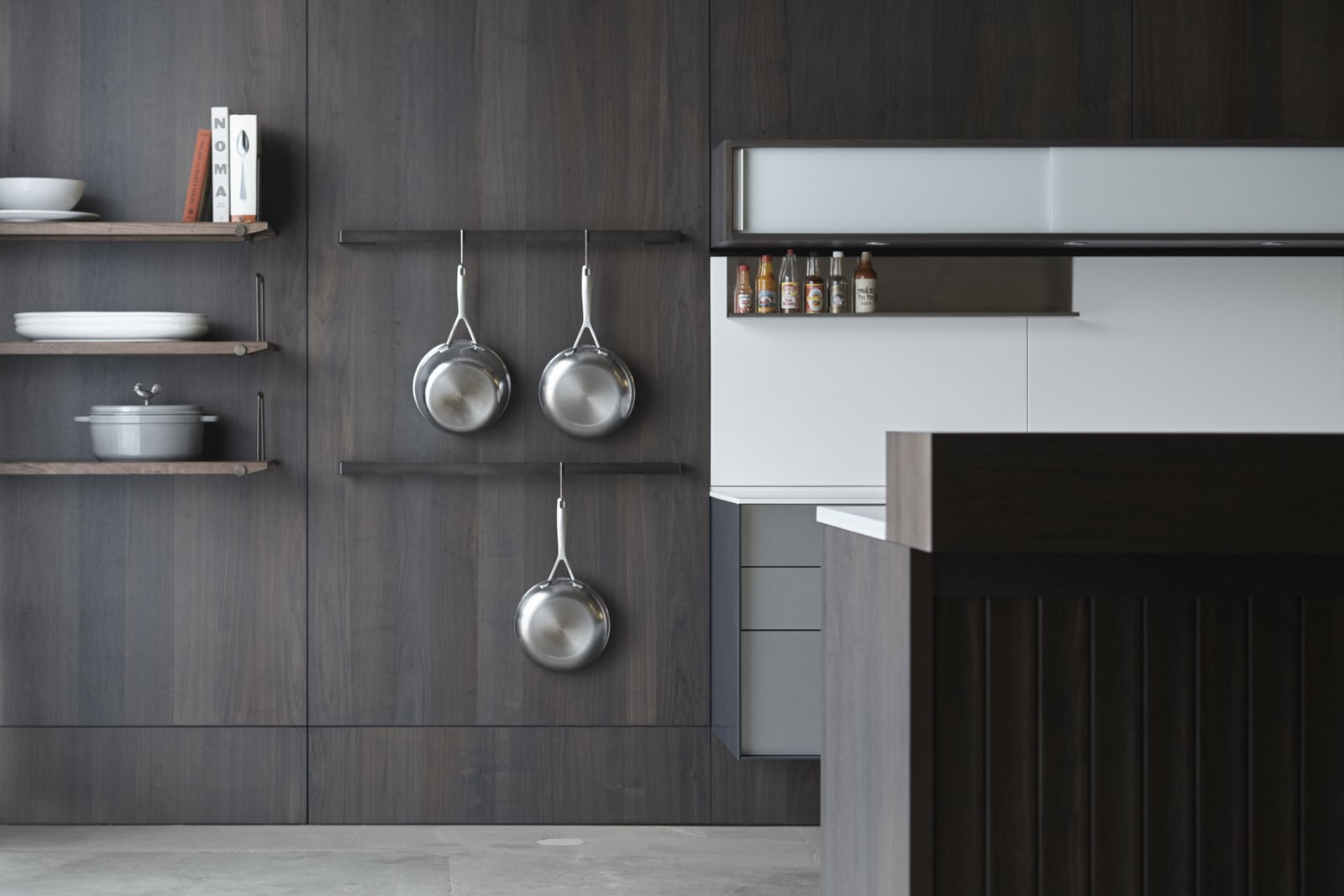 Kitchen and Wood Cabinet Both specialized and flexible, Henrybuilt's Opencase Wall System transforms walls into functional architecture.  Photo 2 of 10 in Henrybuilt's Systems Instantly Upgrade Unused Space