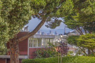 An unobstructed view of the San Francisco skyline can be seen in the background.