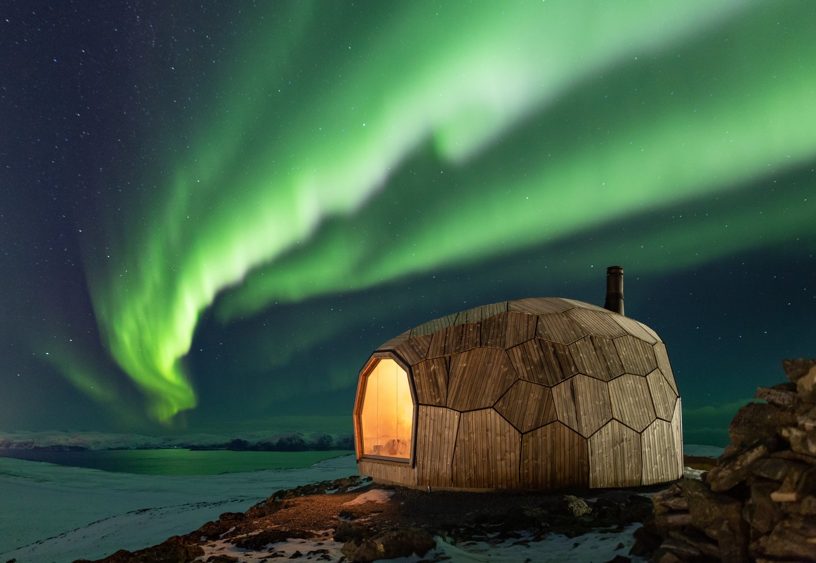 This Egg-Shaped Cabin Provides Shelter for Arctic Circle Travelers
