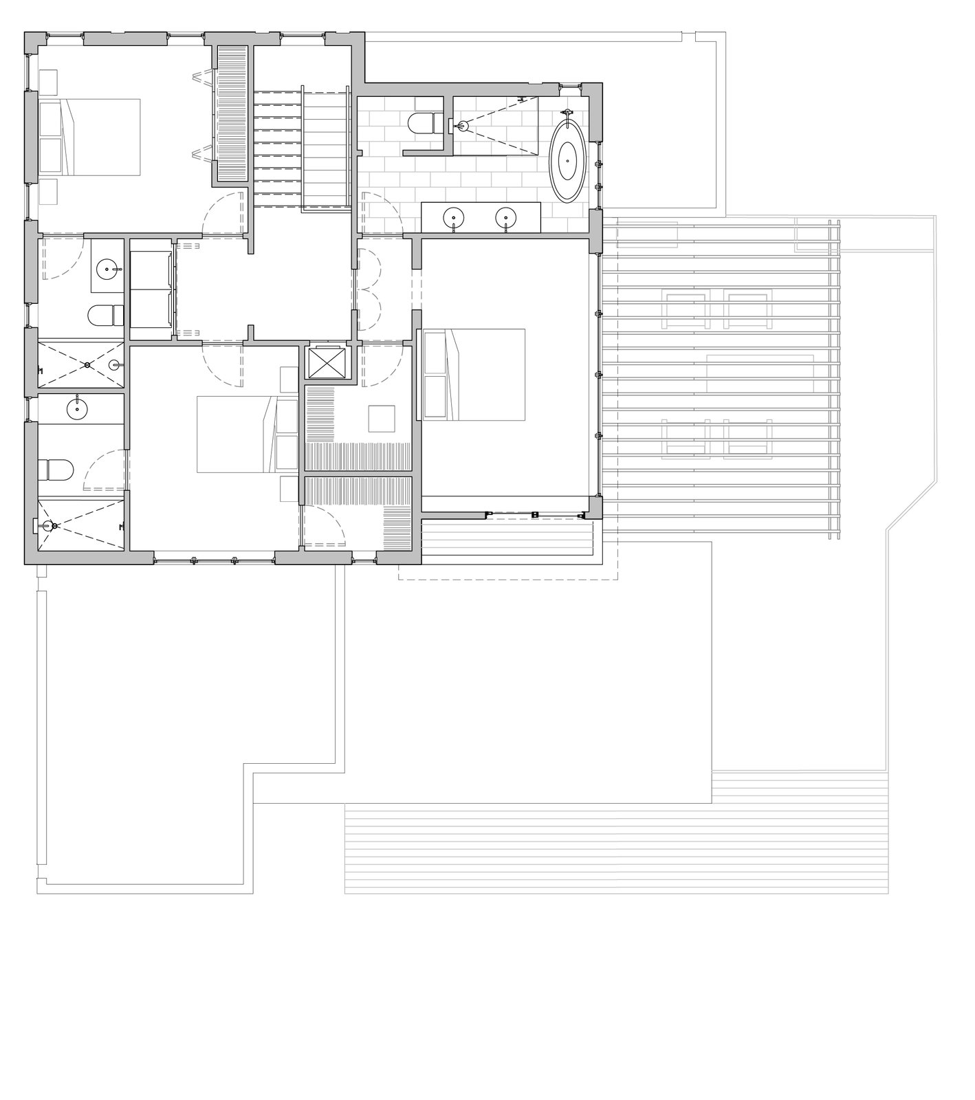 Hyde Park House floor plan: second floor
