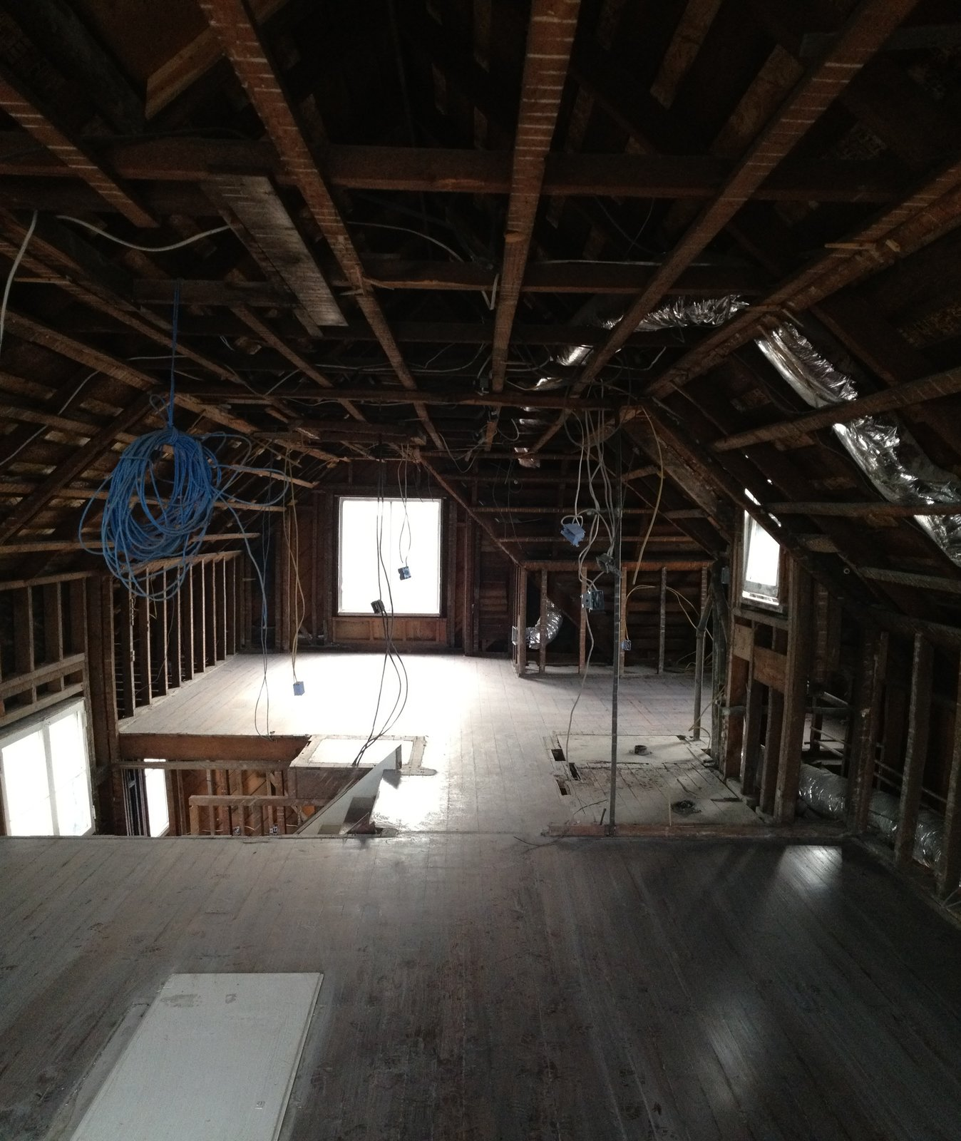 Frederick Street Renovation by atelier KS attic before
