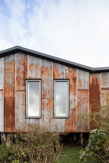 "Micro-corrugated zinc sheets were used on the areas most exposed to rain and wind, treated so that the finish was rusty, but not uniformly so. ""After many tests I did in my house, I managed to find a technique to oxidize the material and achieve the patina we were looking for,"" says Sánchez."