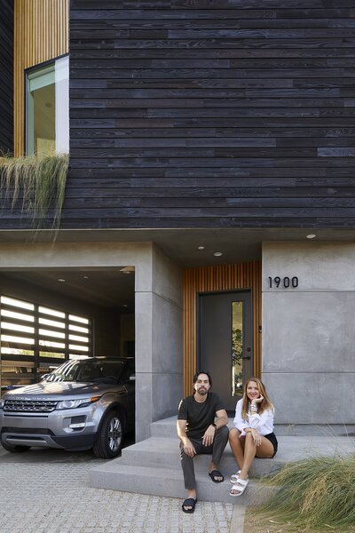 """Architect Todd Sussman and designer Melanie Ryan, creative founders of OPEN For Humans, bring their """"Califloridian"""" sensibilities to Los Angeles, connecting to nature through the inclusion of multiple outdoor living areas. """"We've met more people walking by as we're in our own front garden!"""" shares Melanie."""