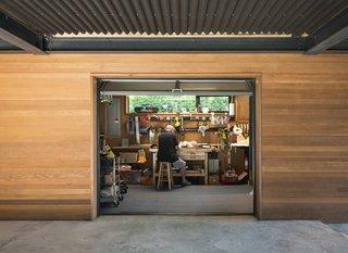Wood shop below house