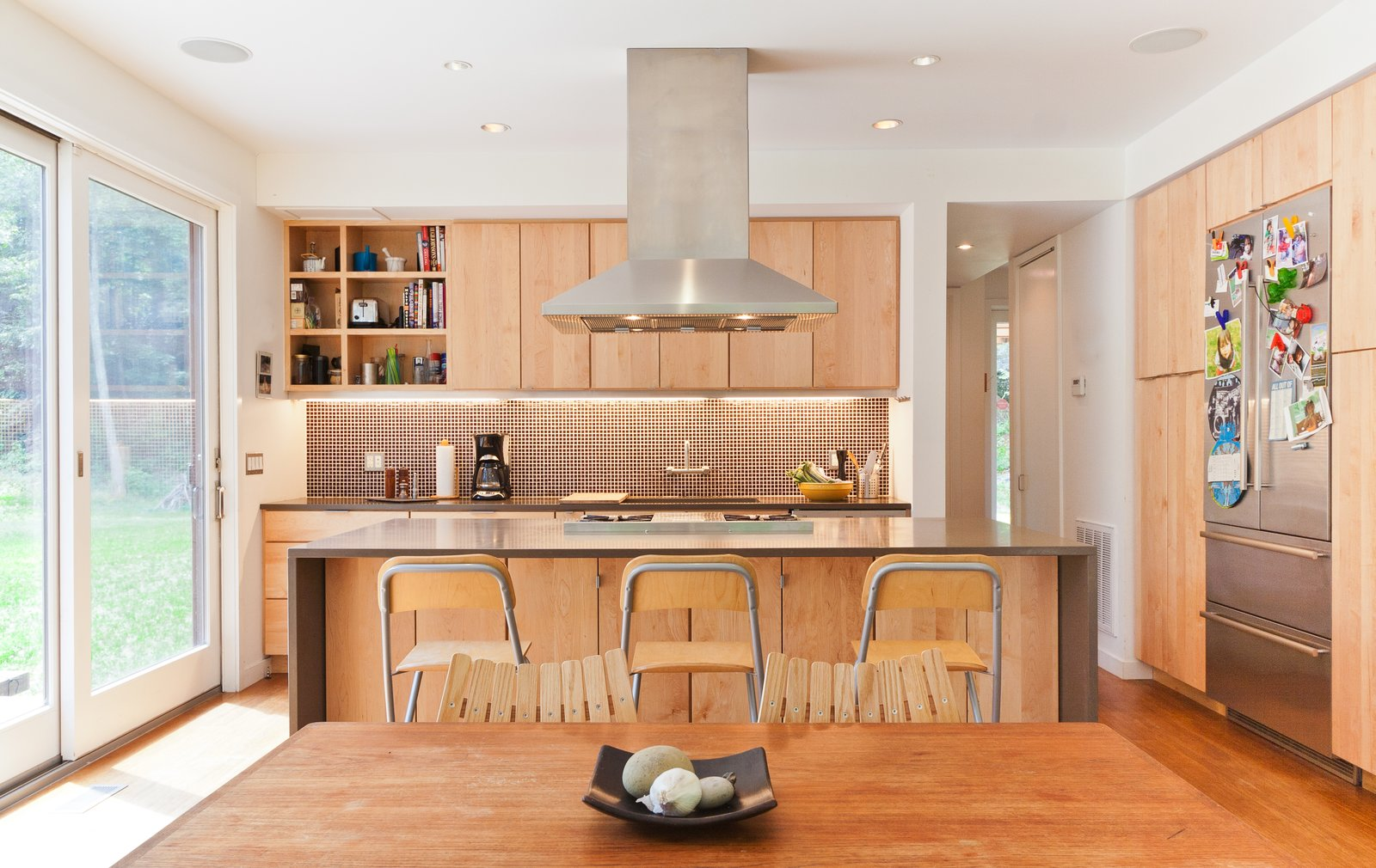 Kitchen, dining, and living occupy one large open space  Catskills Suburban by Resolution: 4 Architecture