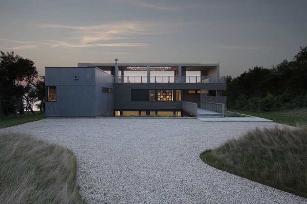 Front of the home at dusk