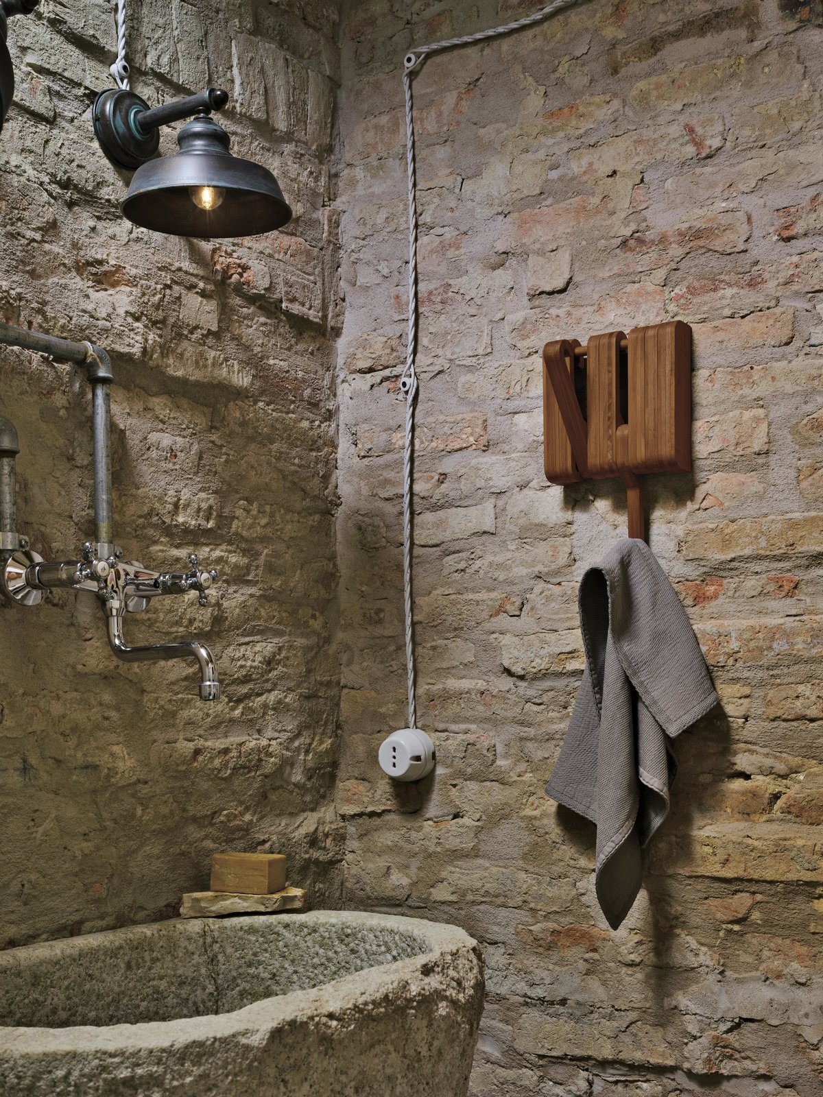 The Hidden is a simple and elegant series of hooks that work together to beautifully create hanging storage space or shelf as needed. This upgrade to the functional and timeless coat or towel hook is a practical and smart in the bathroom.  Bathroom Accessories