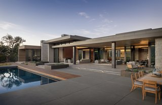The ability to open the living and dining area to the pool and terrace makes the home ideal for entertaining.