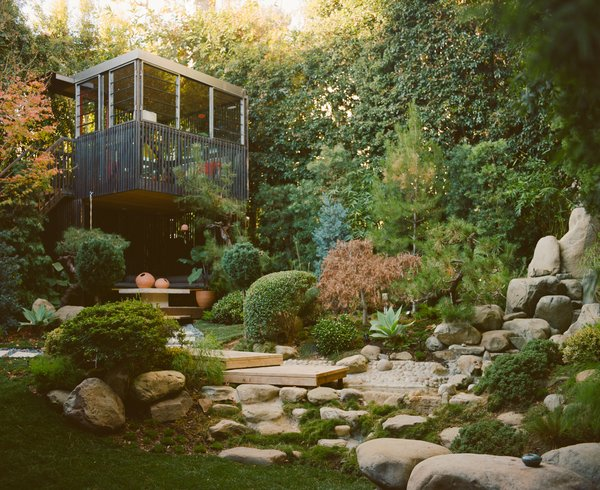 A couple transform their backyard into a botanical children's playland and an ideal entertaining spot.