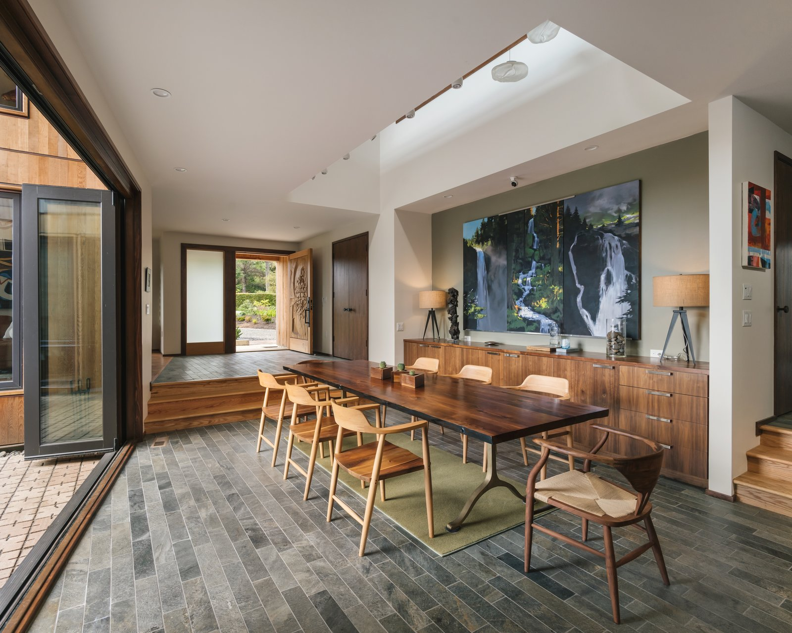 Arch Cape Residence by Colab Architecture + Design dining room