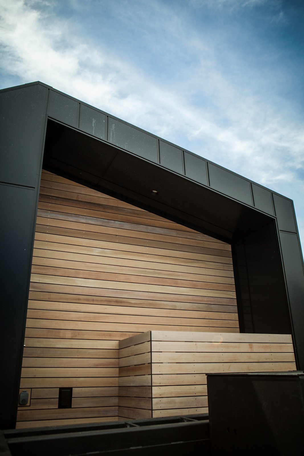Exterior, Prefab Building Type, Metal Roof Material, and Wood Siding Material Monogram Modern Home 2016 – San Francisco #MMHT #SF #monogrammodern  Photo 5 of 16 in Make the Dwell Prefab Your New Home For $90K from Monogram Modern Home Tour 2016: Seattle, S.F., L.A.