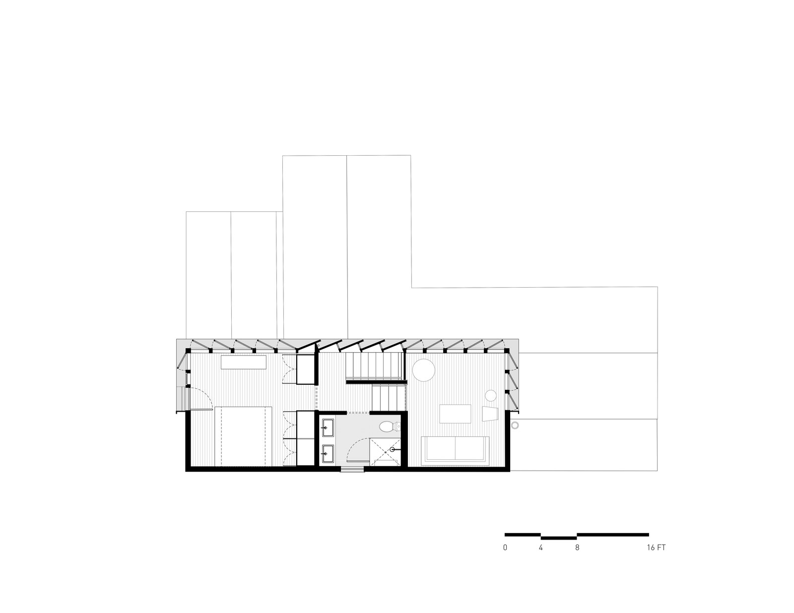 2nd Floor Plan  A-to-Z House by Spiegel Aihara Workshop
