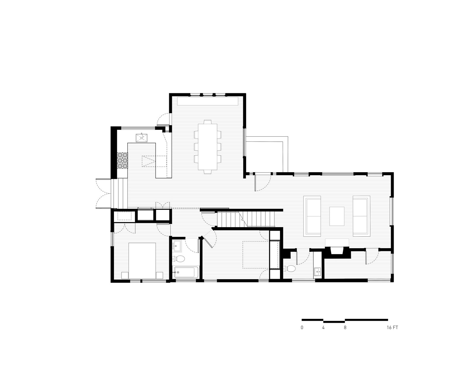Ground Floor Plan  A-to-Z House by Spiegel Aihara Workshop