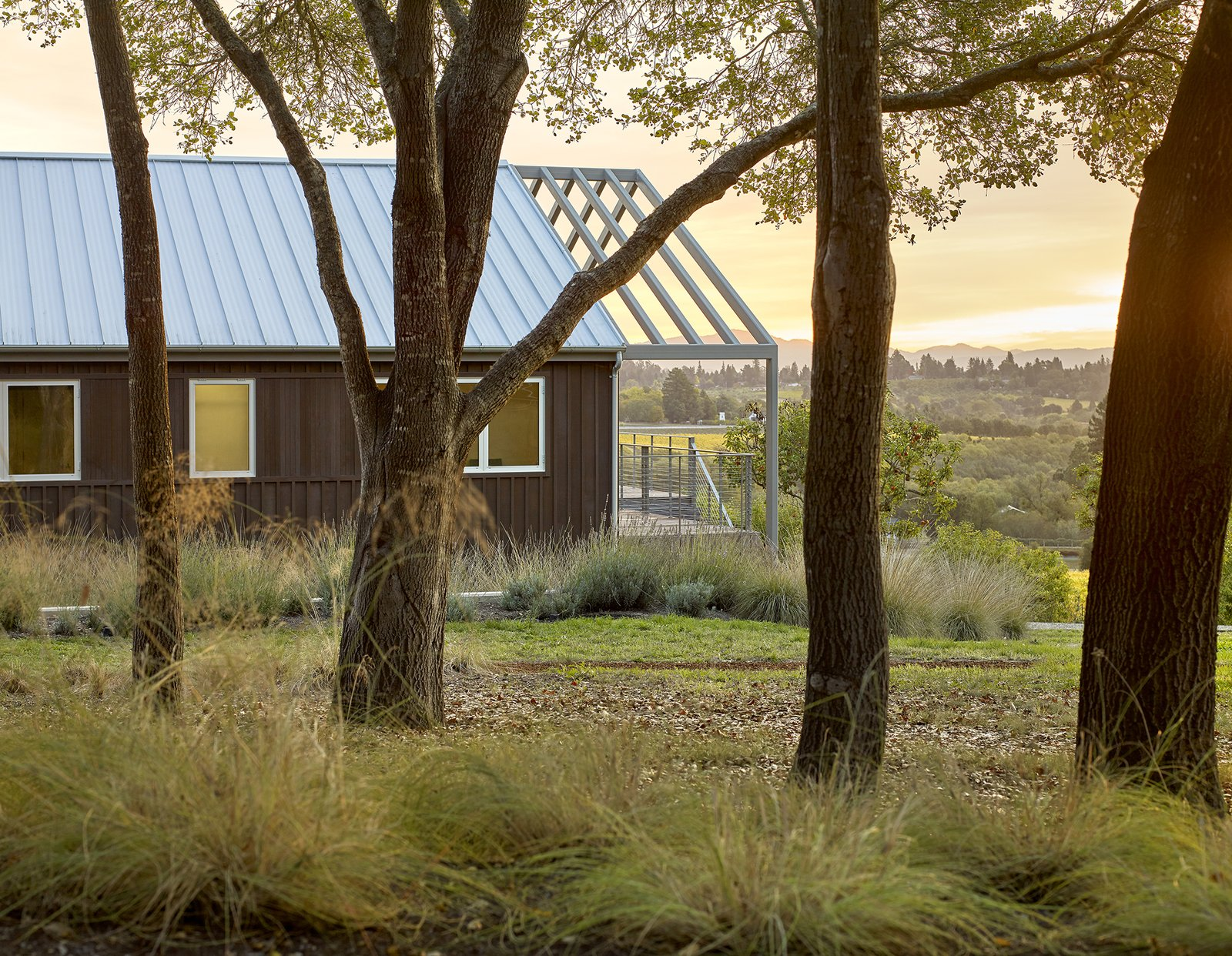 Exterior, House Building Type, Gable RoofLine, Farmhouse Building Type, Metal Roof Material, Wood Siding Material, and Metal Siding Material Orchard House Exterior  Orchard House by Cary Bernstein Architect